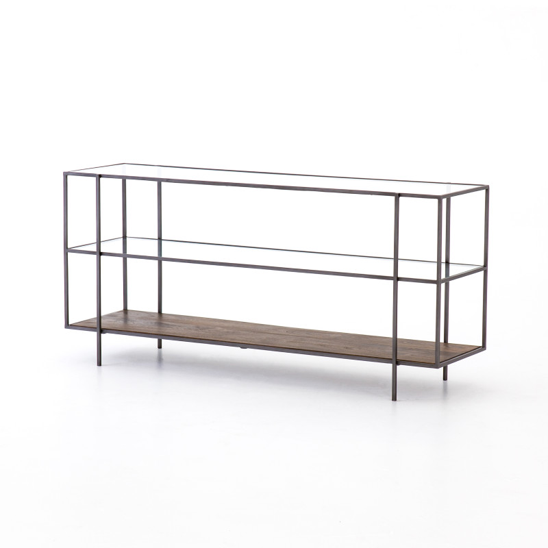 Bryon Wood and Iron Modern Media Console