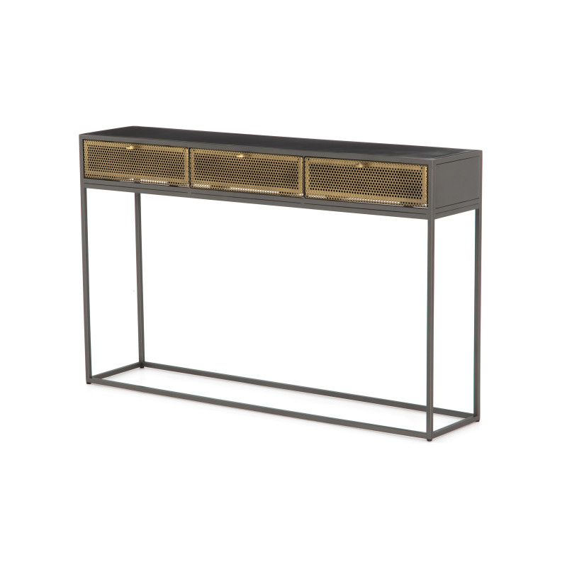Hendrick Black Metal Console Table