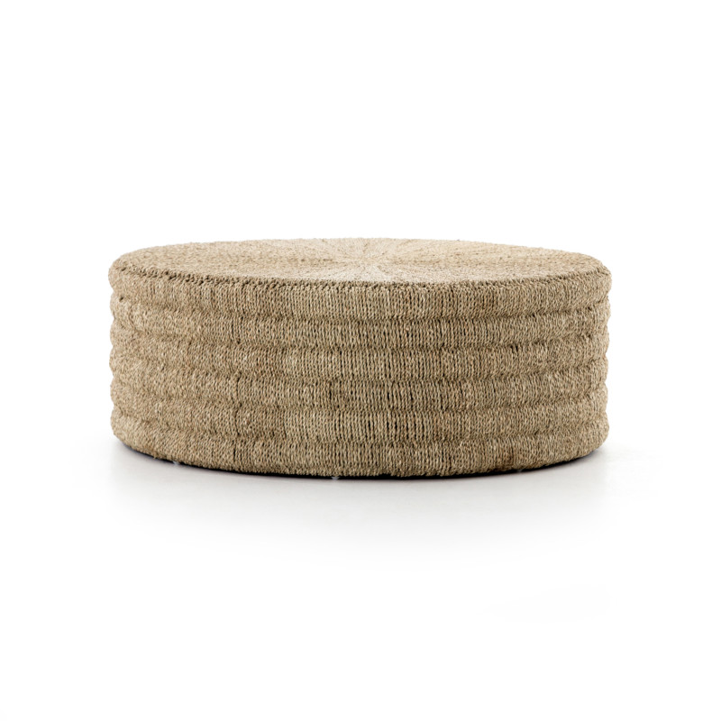 Pascal Round Drum Style Rope Coffee Table