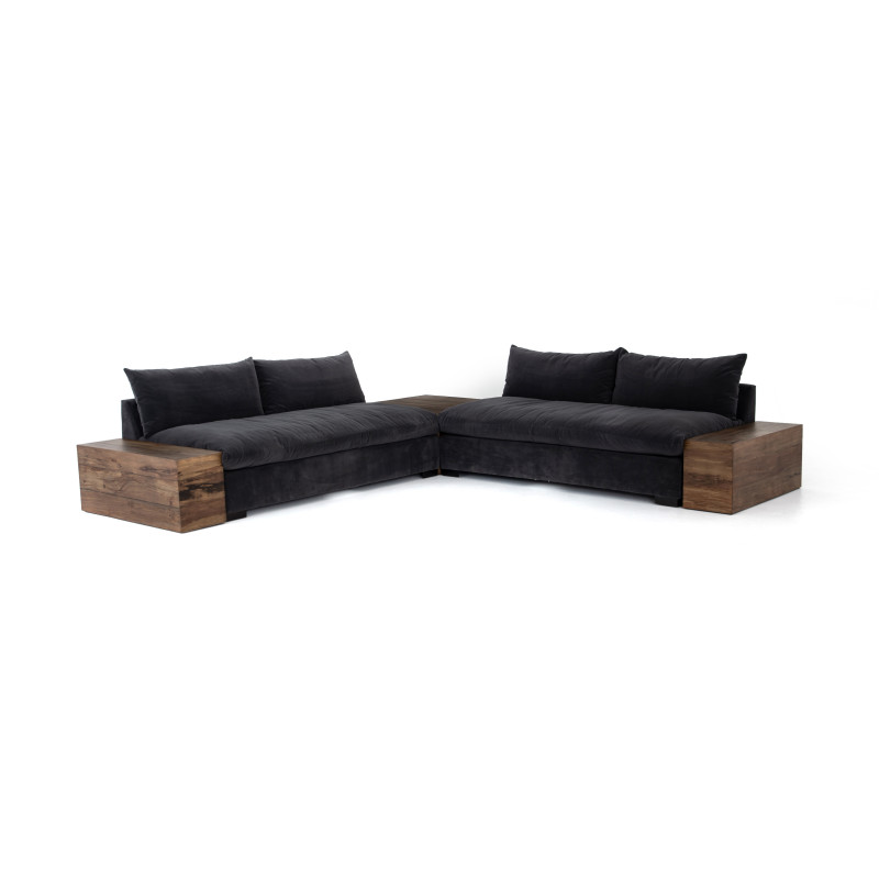 Grant 2-PC Sectional w/Corner+End Table
