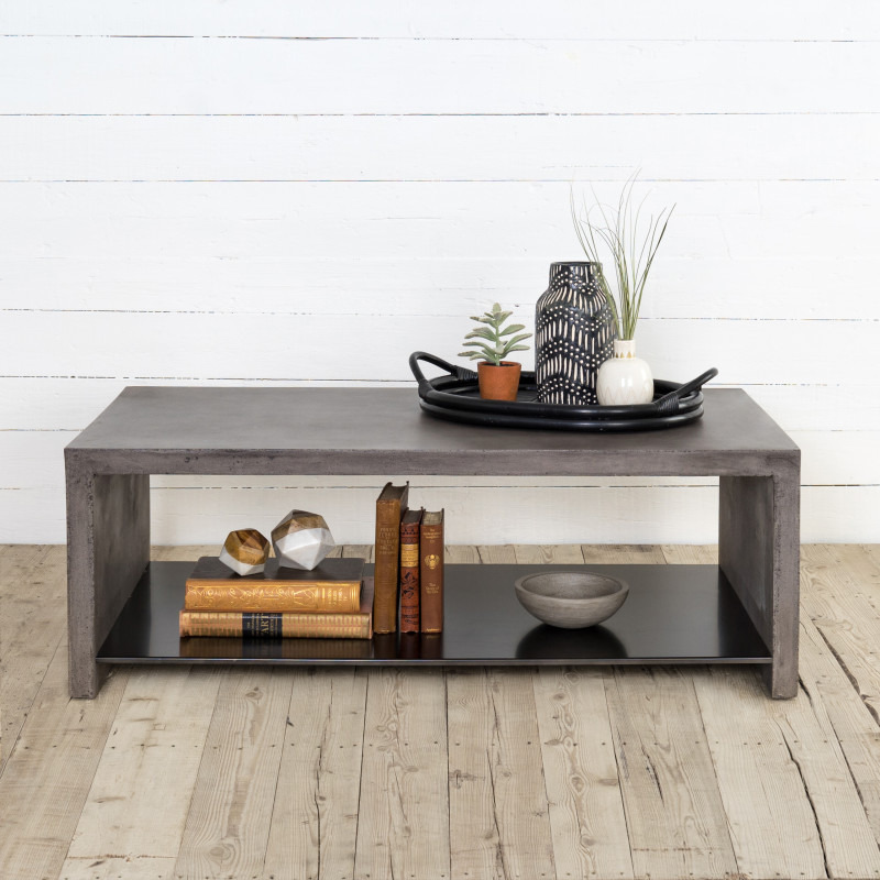 Hugo Minimalist Concrete Coffee Table