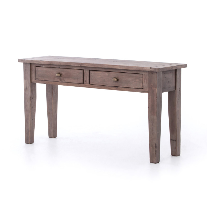 Irish Coast Rustic Wood Console Table