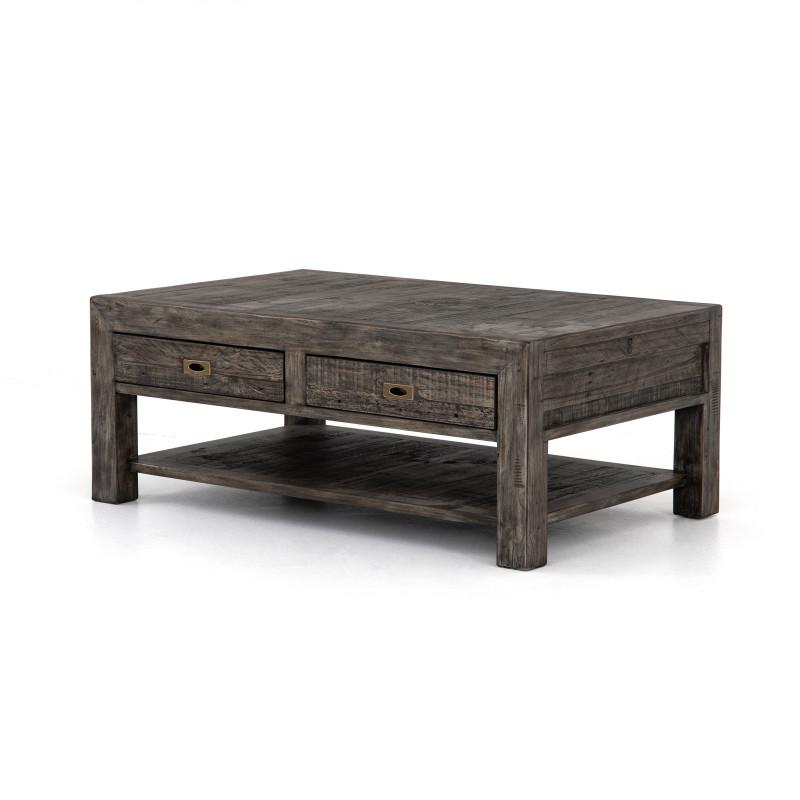 Post Rail Reclaimed Rustic Wood Coffee Table