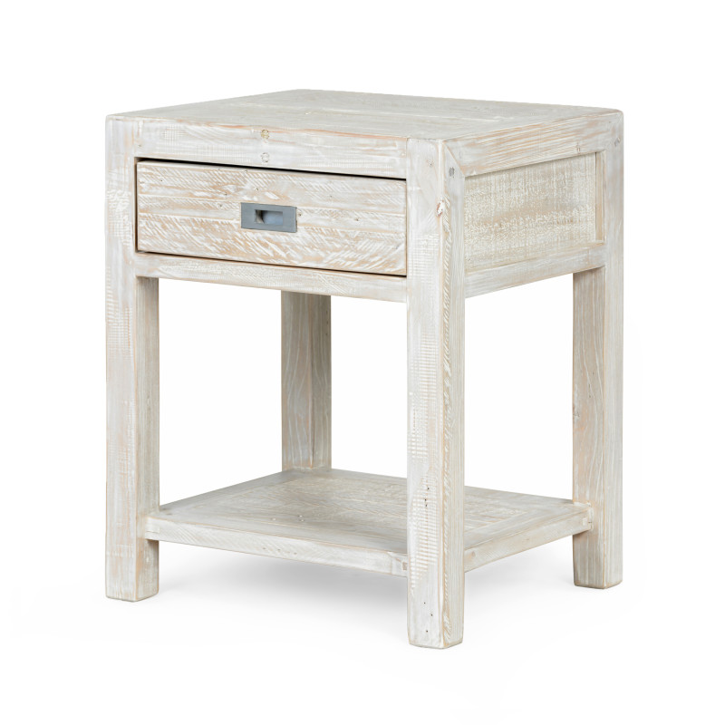 Post & Rail Bedside Table With Drawer