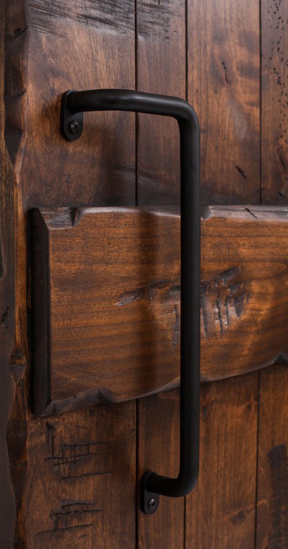 Angled Iron Barn Door Handle Rustica Hardware