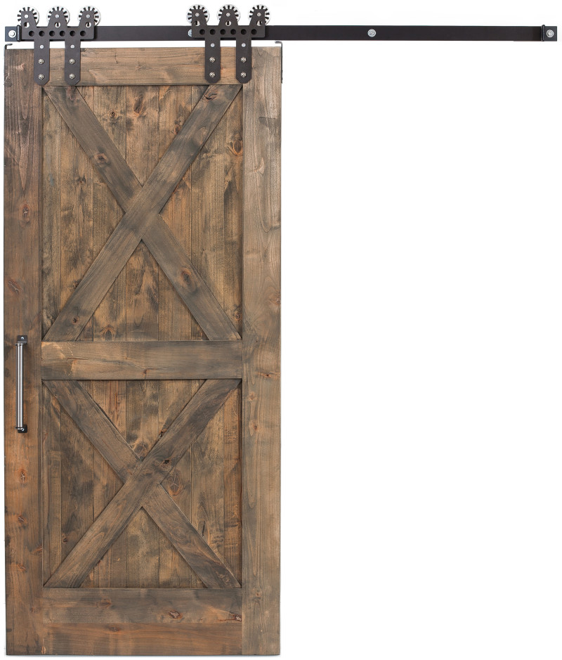 Interior Double X Sliding Barn Door Rustica Hardware