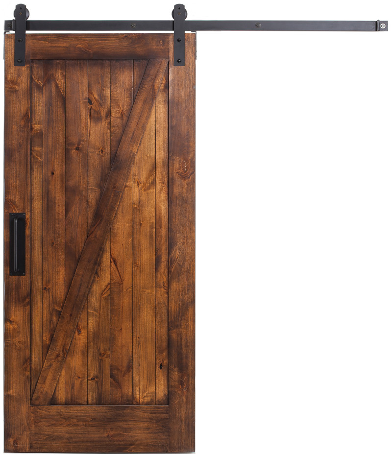 Z style interior sliding barn door rustica hardware for Barn door pictures