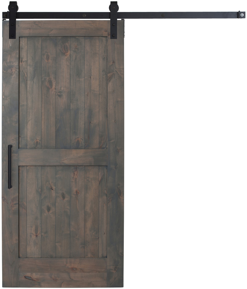 Sliding interior 2 panel barn door rustica hardware for Barn door pictures