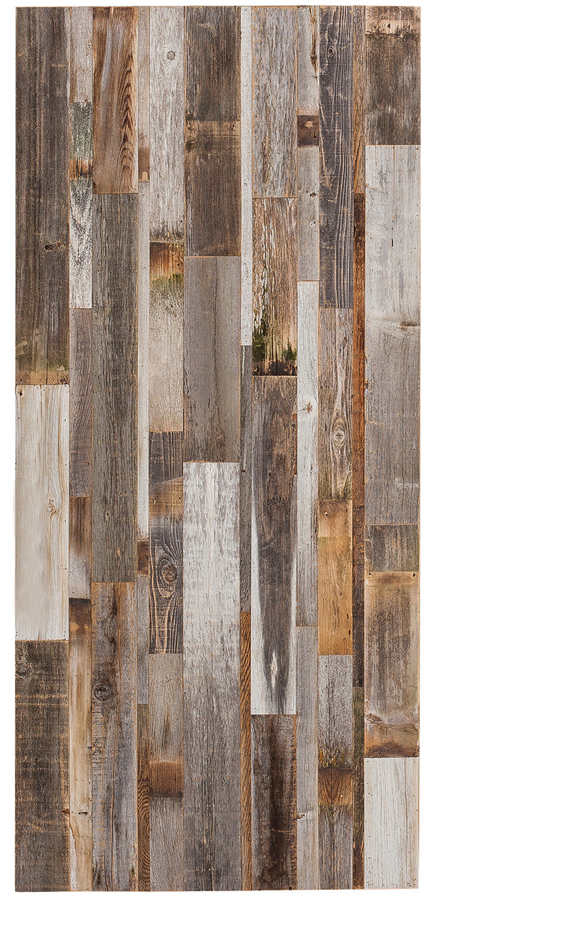 Vertical Distressed Wood Barn Door Hinged Swinging Rustica Hardware