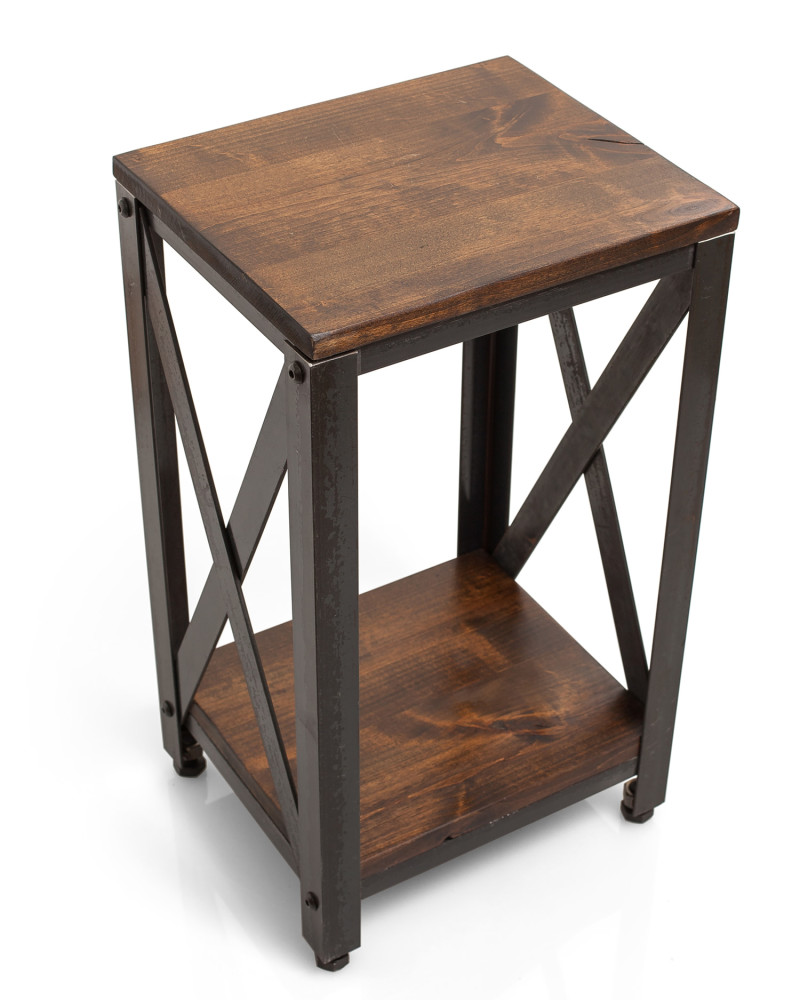 Crossroads Wood Farmhouse End Table