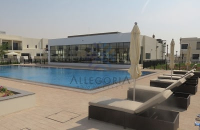 Brand New Four bedrooms Plus Maid with Pool View -