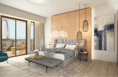 2BR Full sea view opp Burj AL Arab, MJL. -