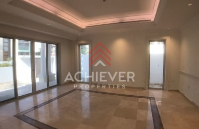 Burj view 4 bed Med style | Large plot | Vacant -
