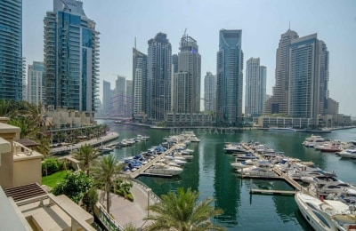 Full Marina View   4 Beds + Maids with Rooftop -