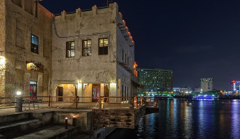Dubai Creek-Arabic style building