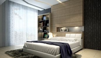 Bedroom of a Ready unit in Dubai