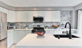 High end white kitchen in Arabian Ranches