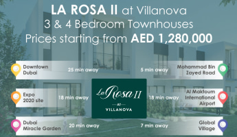 Infographics showing location advantage of La Rosa II