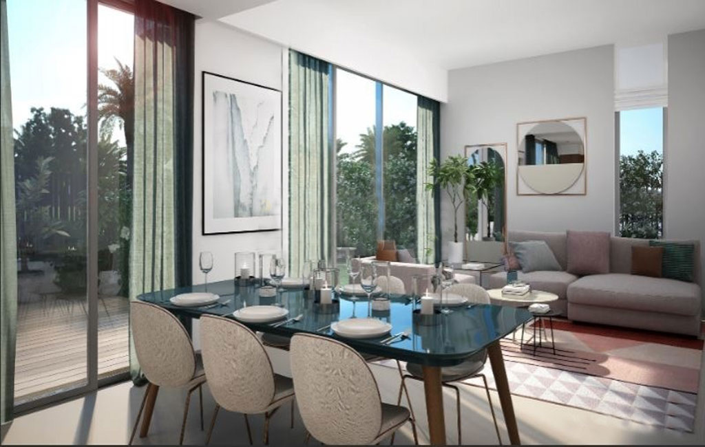 Dining area in Sun Townhouses