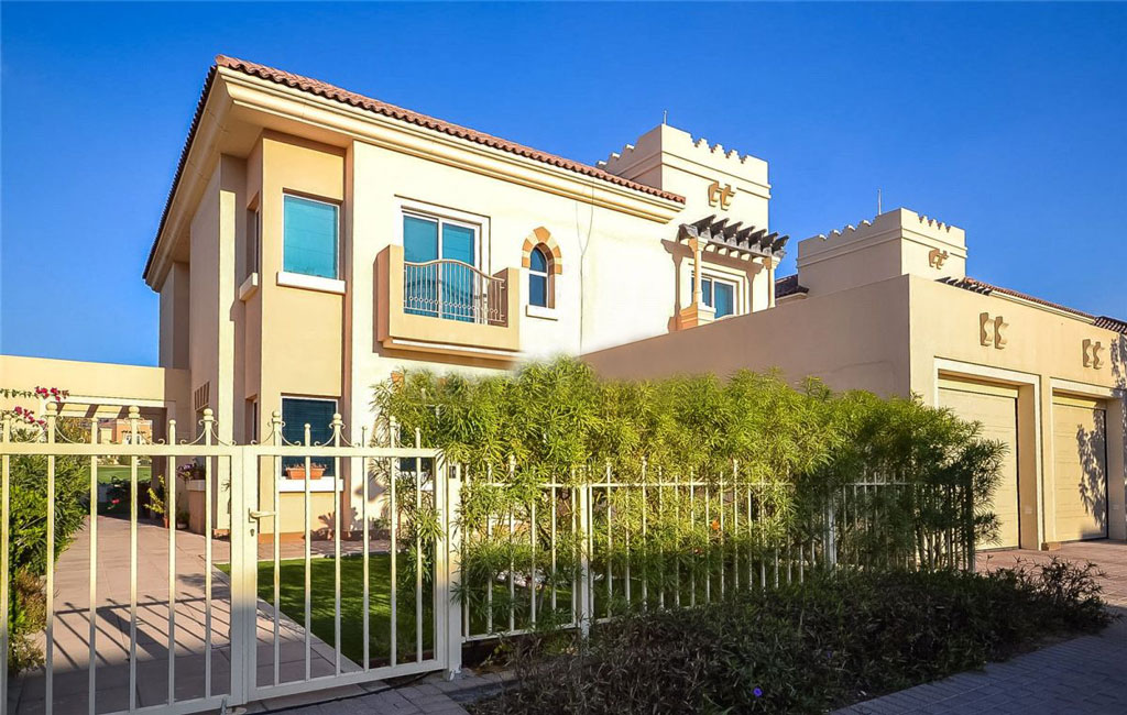 Back View of Morella Villa in Victory Heights Dubai