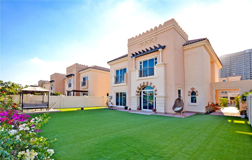 Front View of Morella Villa in Victory Heights Dubai