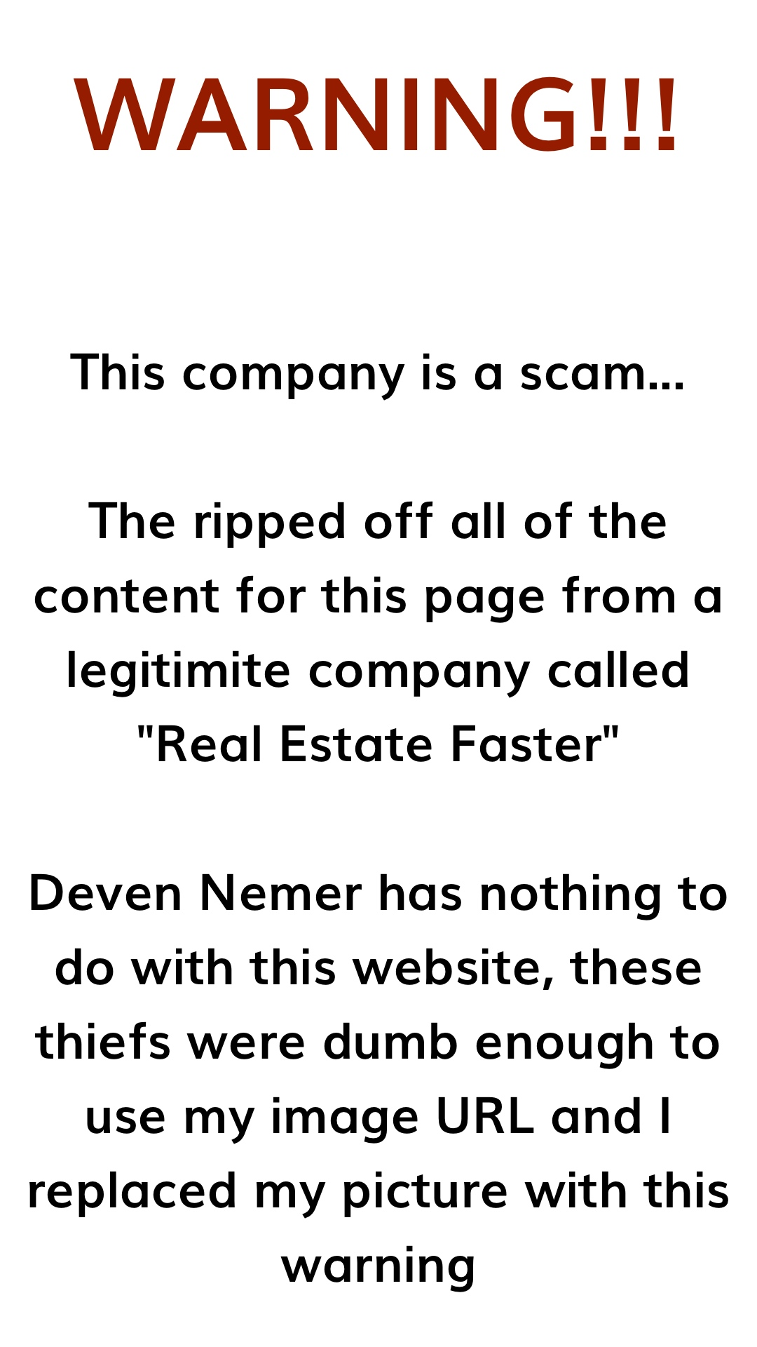 Deven Nemer CEO - Real Estate Faster