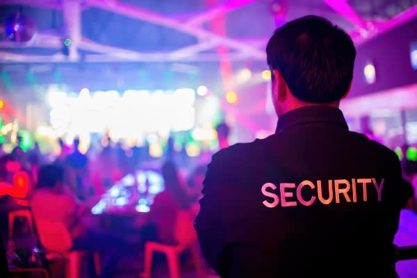 Security Guard Standing at Event