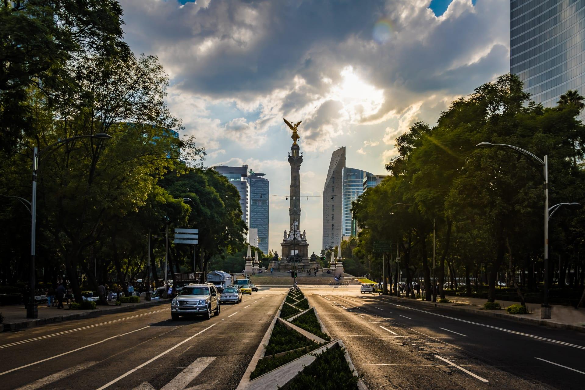 Mexico City - The iconic Paseo de la Reforma in Mexico City