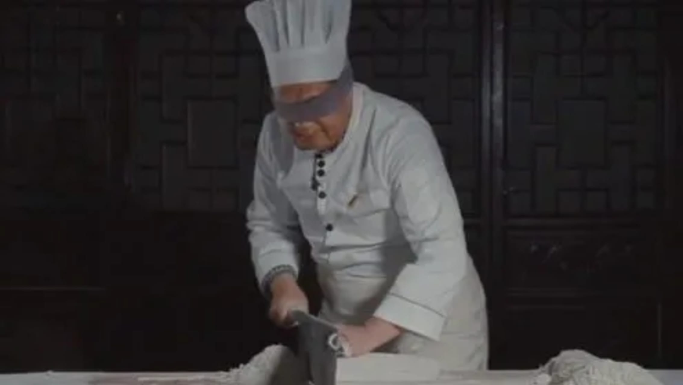 Chengdu - Dragon Boat Festival 2021: Cutting Noodles while Blindfolded with Egg painting