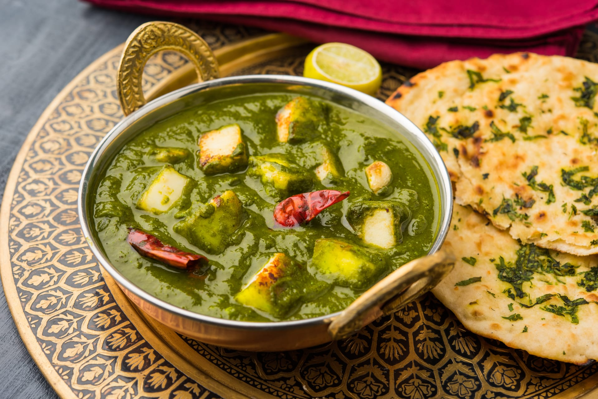 Delhi - Delicious Palak Paneer- Spinach with tofu/cottage cheese/potatoes