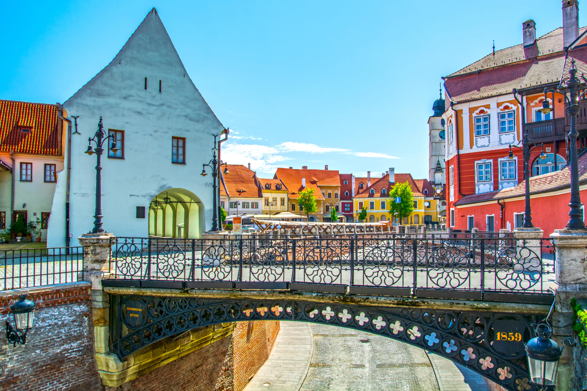 Transylvania - The medieval city of Sibiu, the capital of Transylvania in 17th century