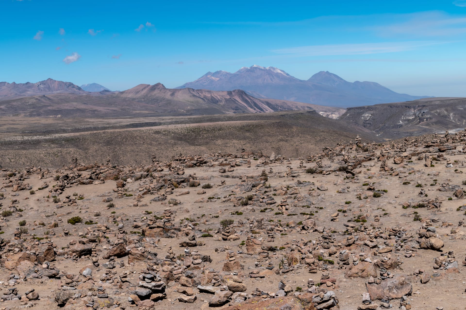 Arequipa - Western Mountain Ranges of Central Andes - 4910 Meters above Sea Level or 16108 Feet.
