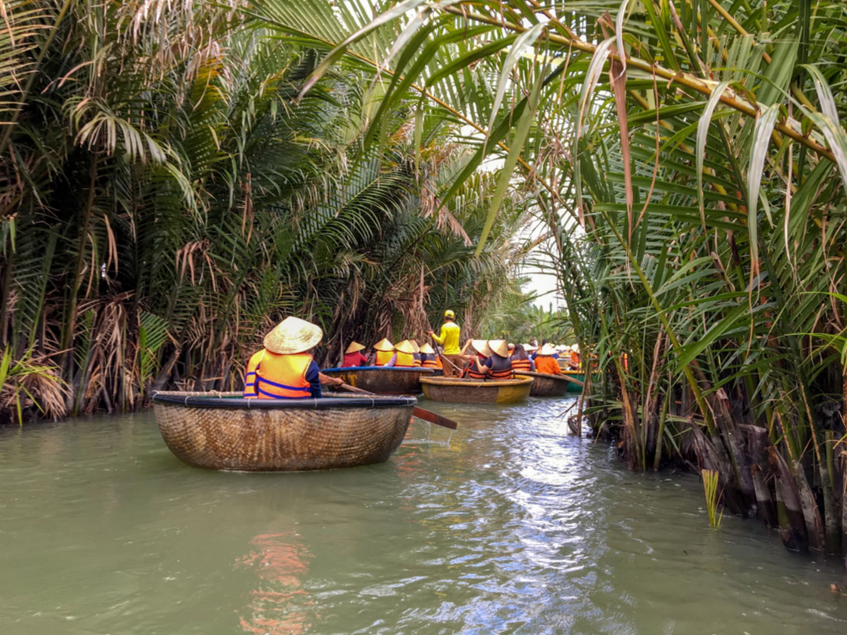 """Hội An - Hội An - Day 3: Row """"Basket Boat"""" along """"Water Coconut"""" Forest"""