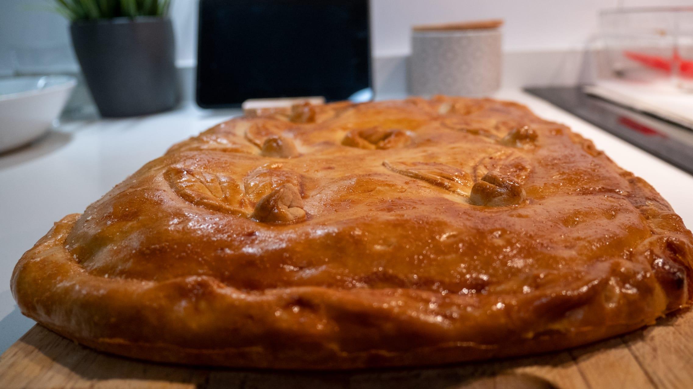 Galicia - Cooking Demo: Galician Empanada Pie with Xoubas (Small Sardines)