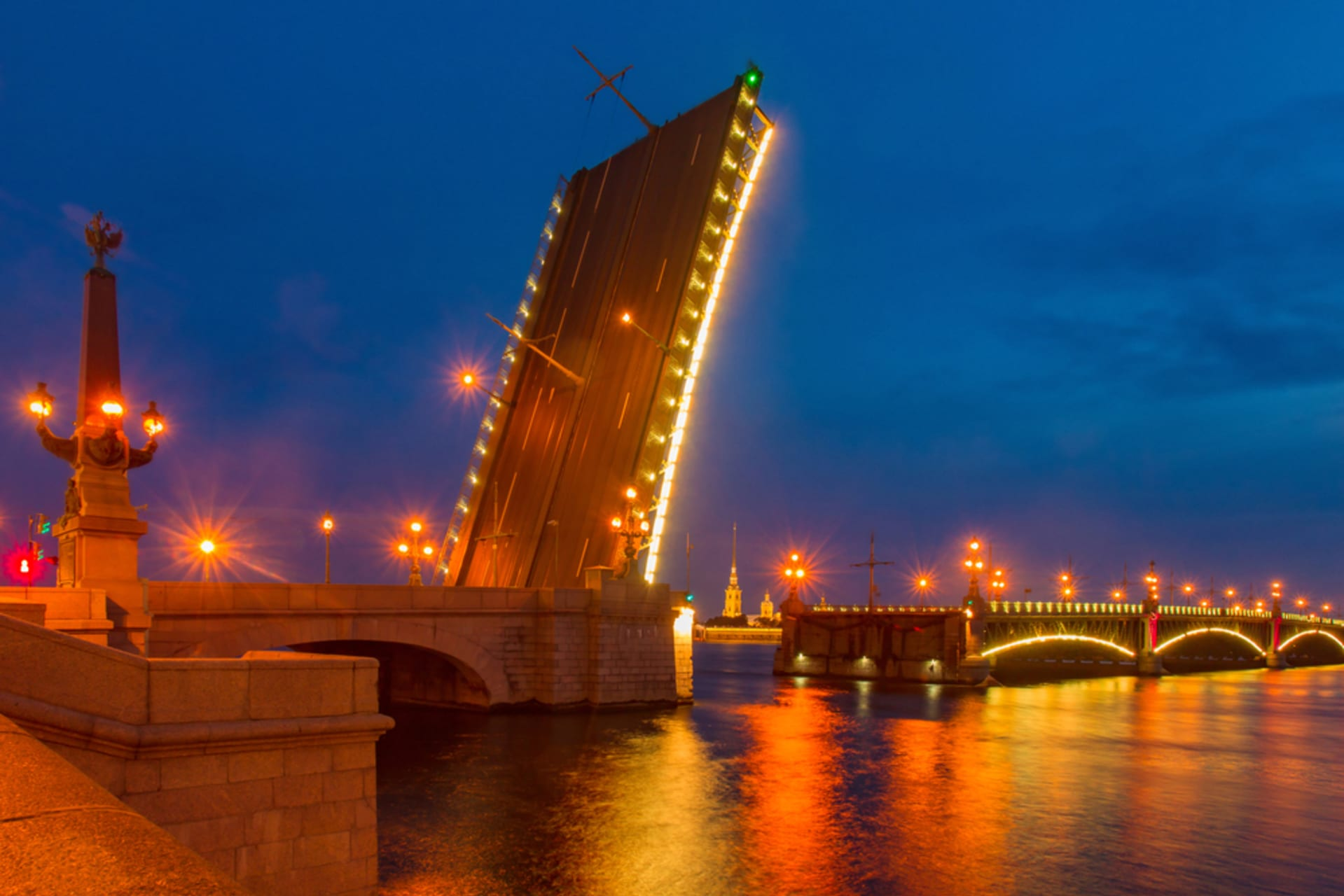 Saint Petersburg - White Nights Special Part 4. Trinity Bridge Opening