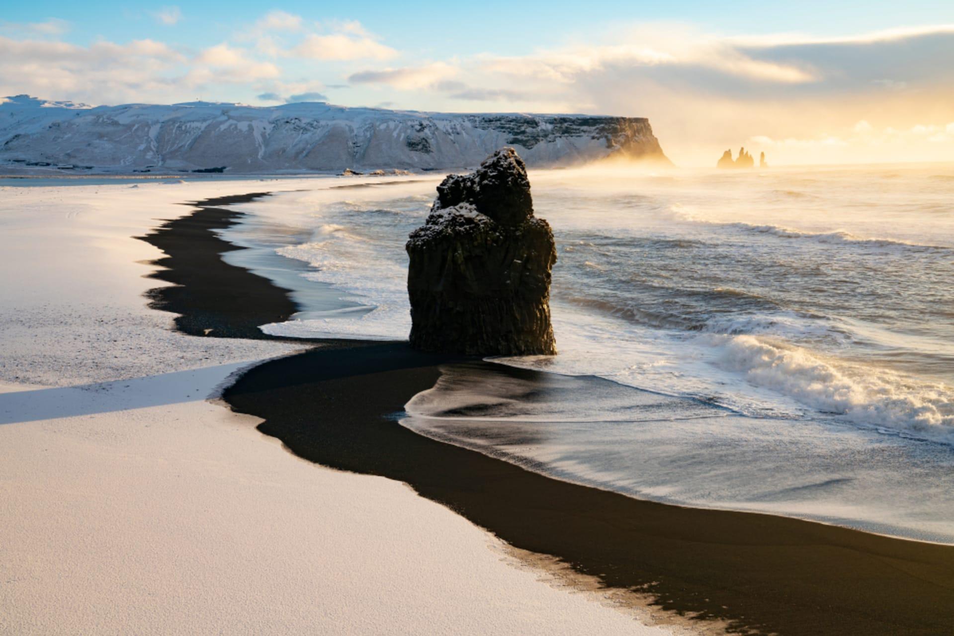 South Iceland - Reynisfjara – Black Sand Beach and Cliffs