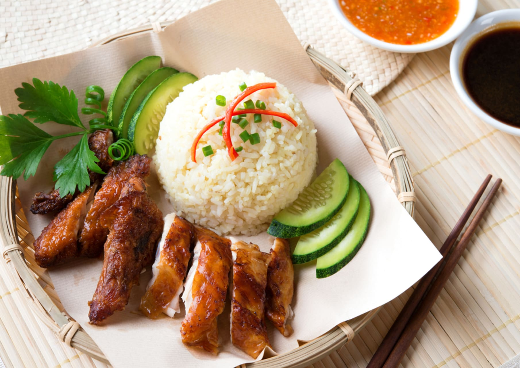 Singapore - Dinner Time: Cooking Singaporean Chicken Rice and Talk about Trade routes