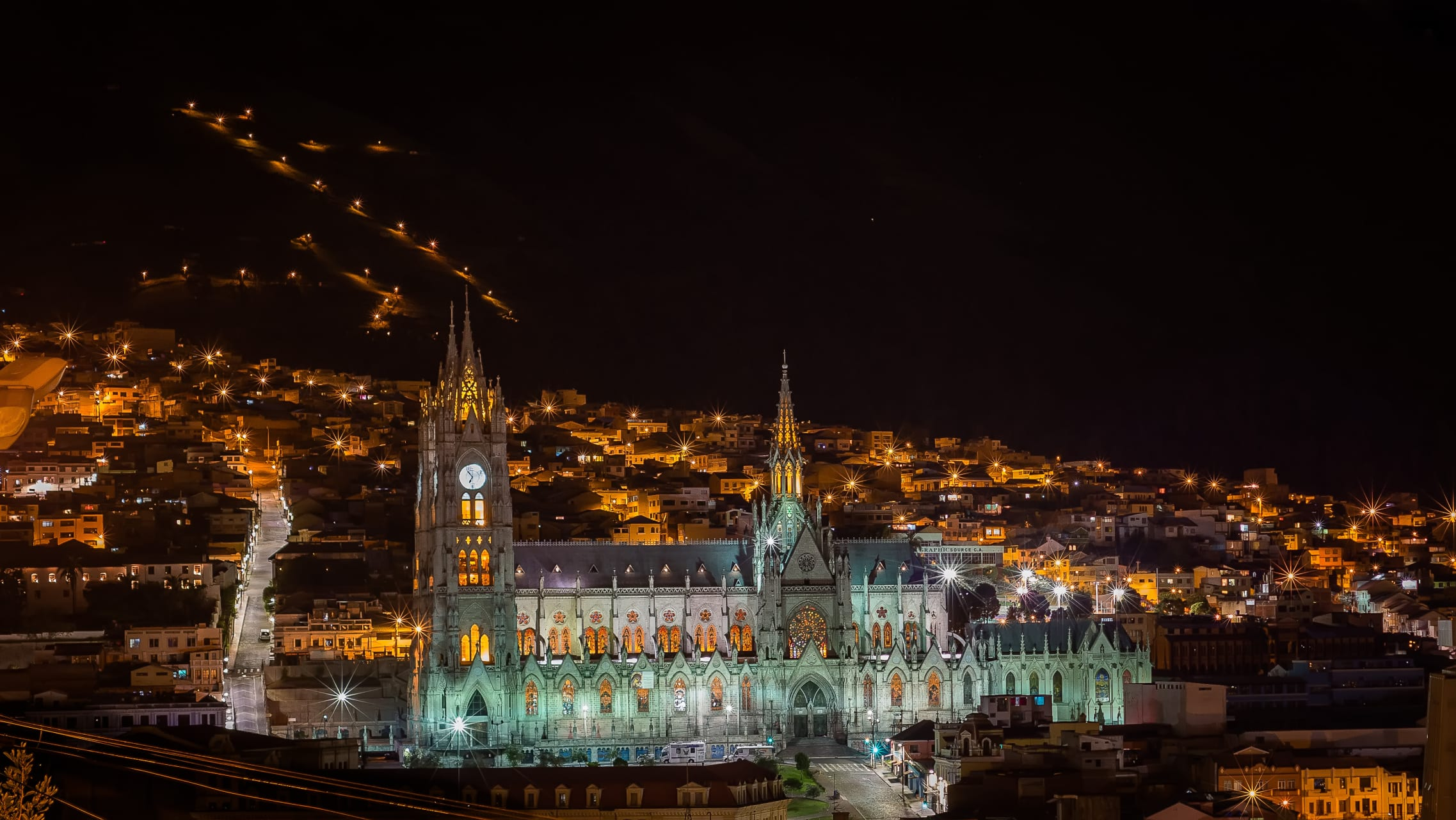 Quito - Quito By Night - Old City- First city declared cultural heritage by UNESCO