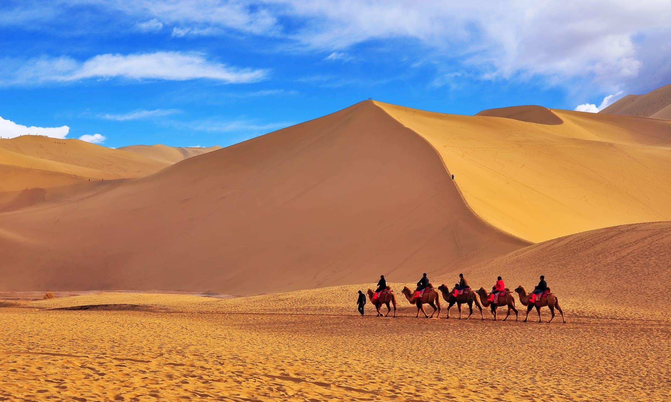 Hexi Corridor (China's Silk Road) - Echoing Sand Dune & Crescent Lake: Silk Road on the Gobi Desert's Edge