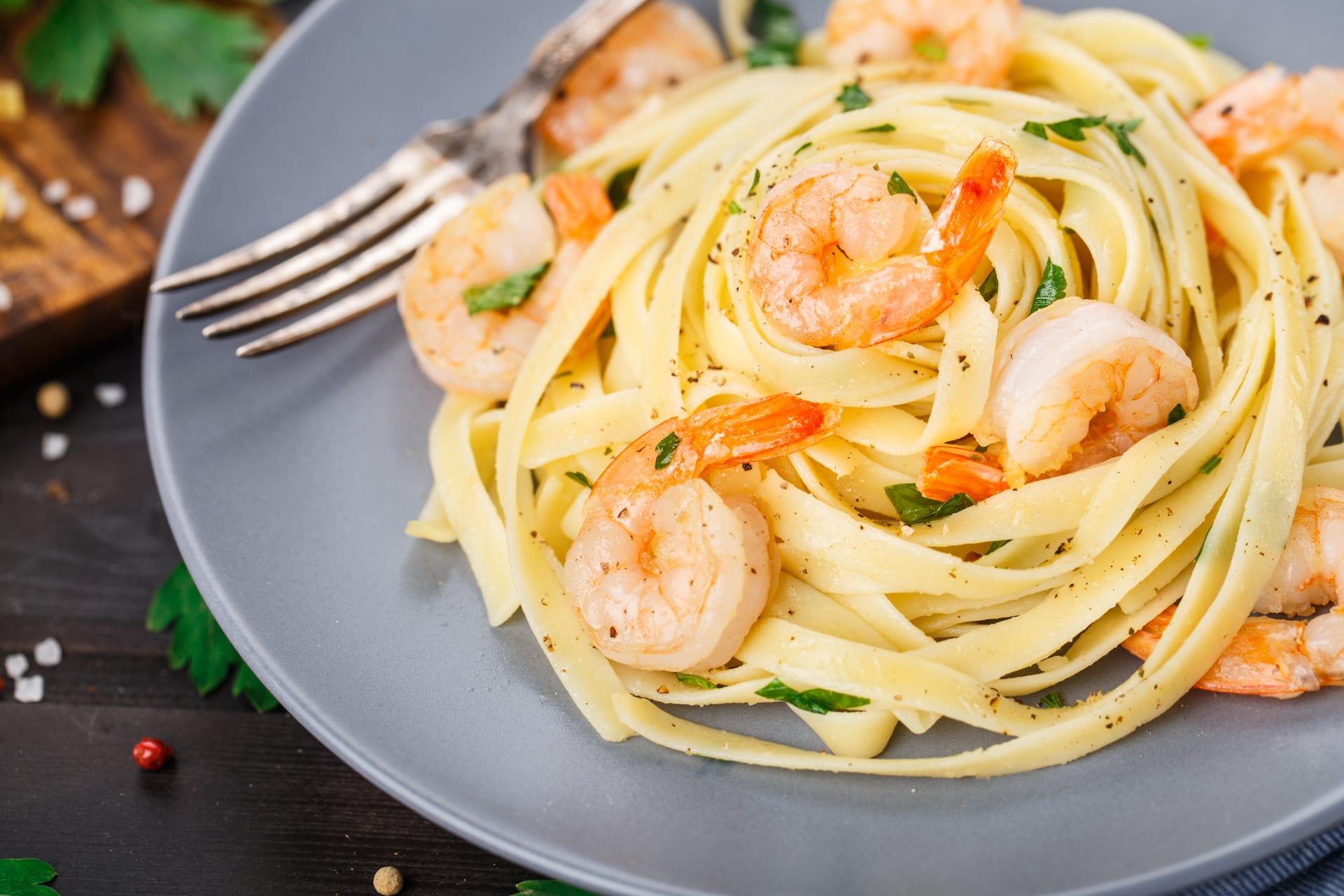 Rome - Summer Special - Tagliatelle Zucchini & Shrimps with Lemon scent