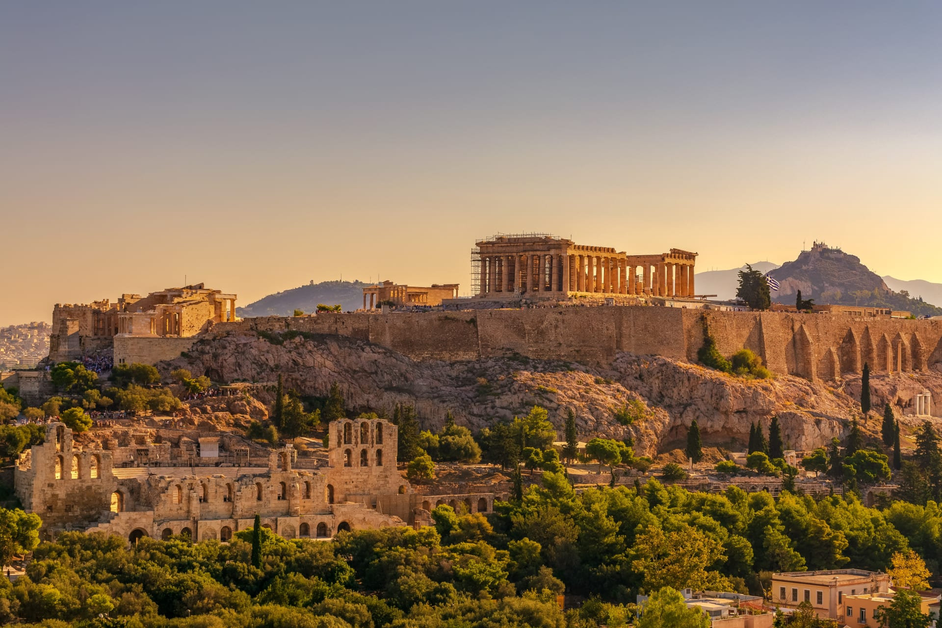 Athens - Acropolis and Parthenon: The Best View in Athens.