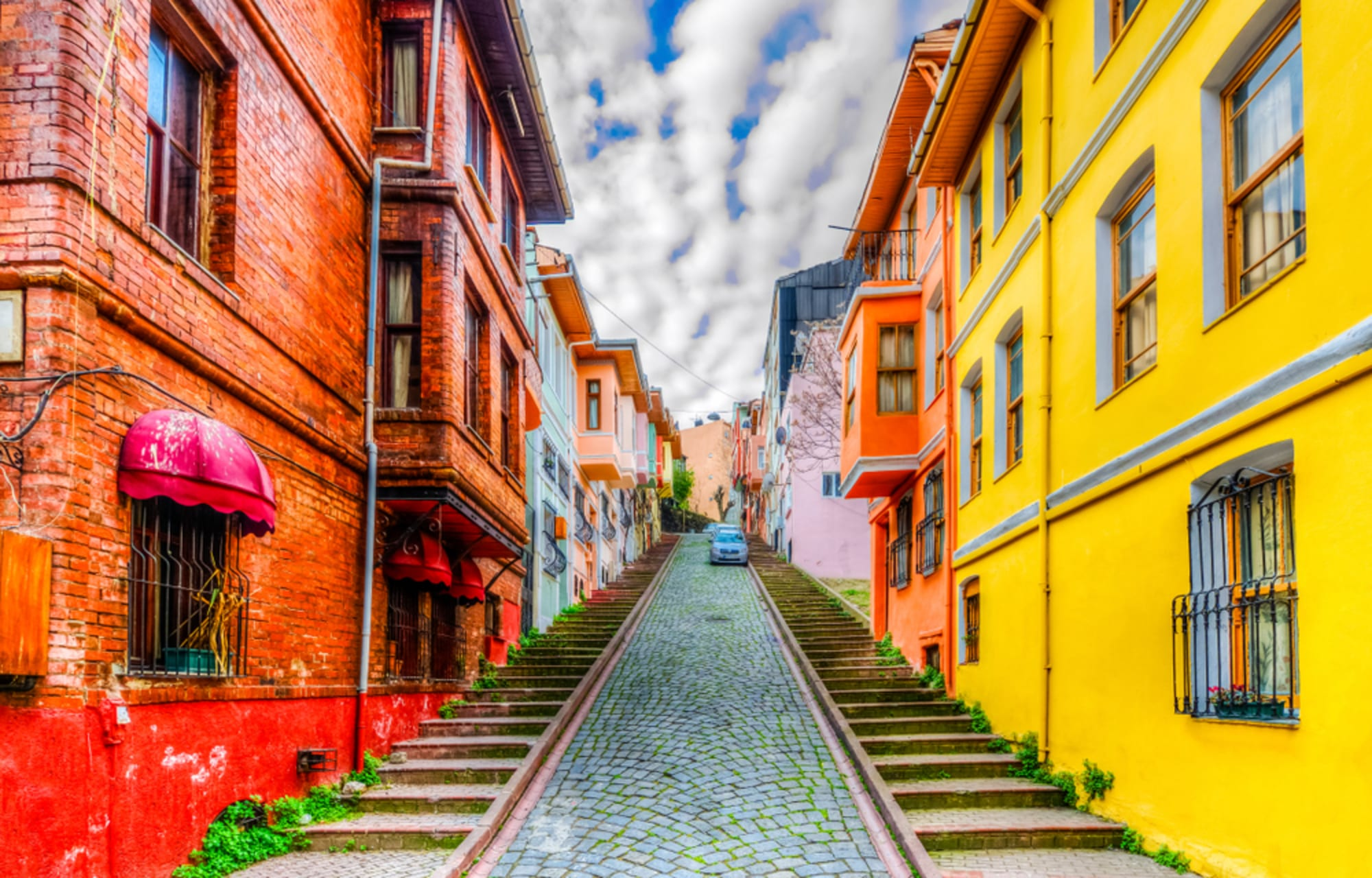 Istanbul - Colorful Ottoman Houses in Residential Neighborhoods