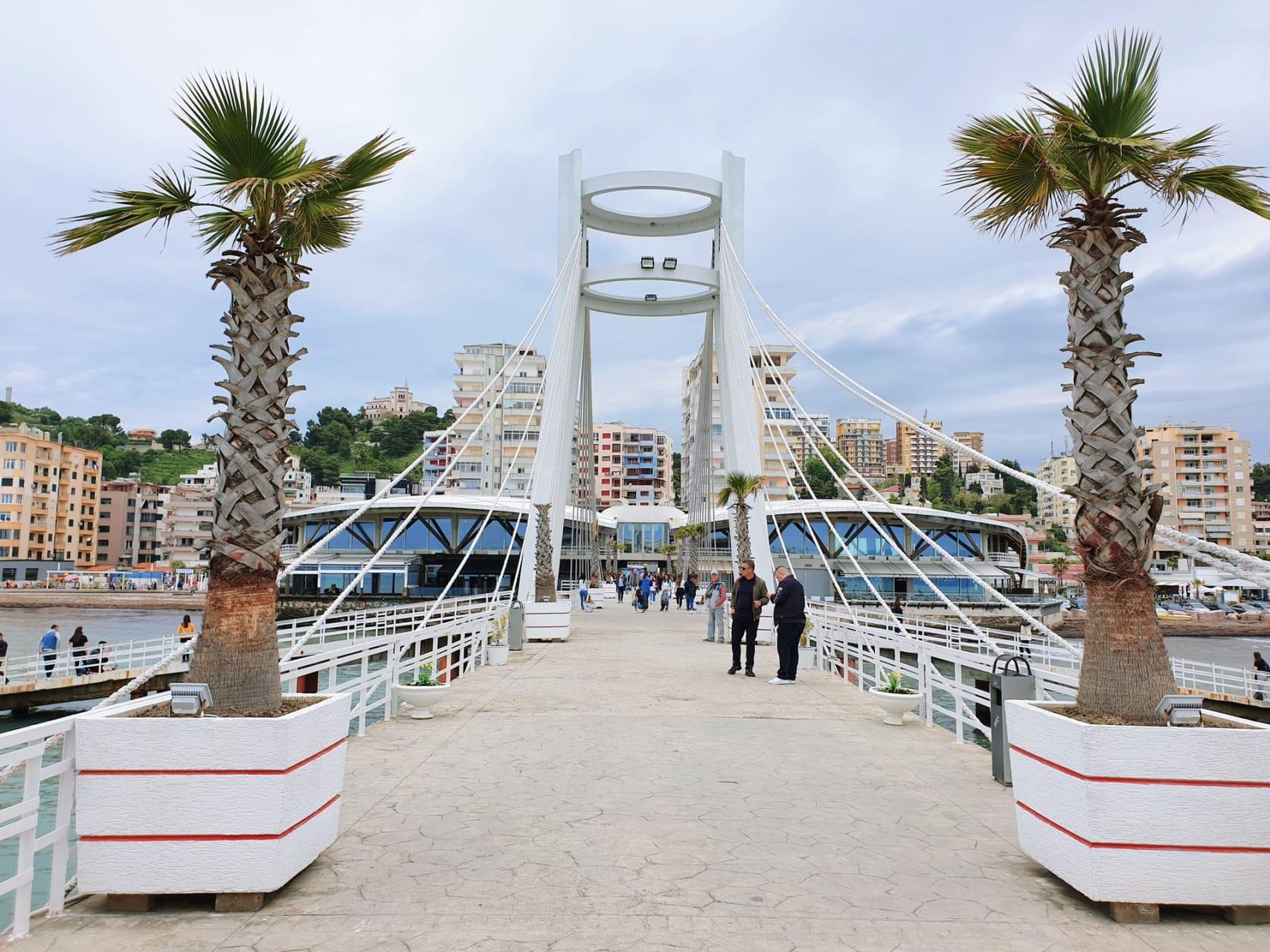 Durrës - Roman Amphitheatre , Venetian Tower, Vollga Promenade and city center.
