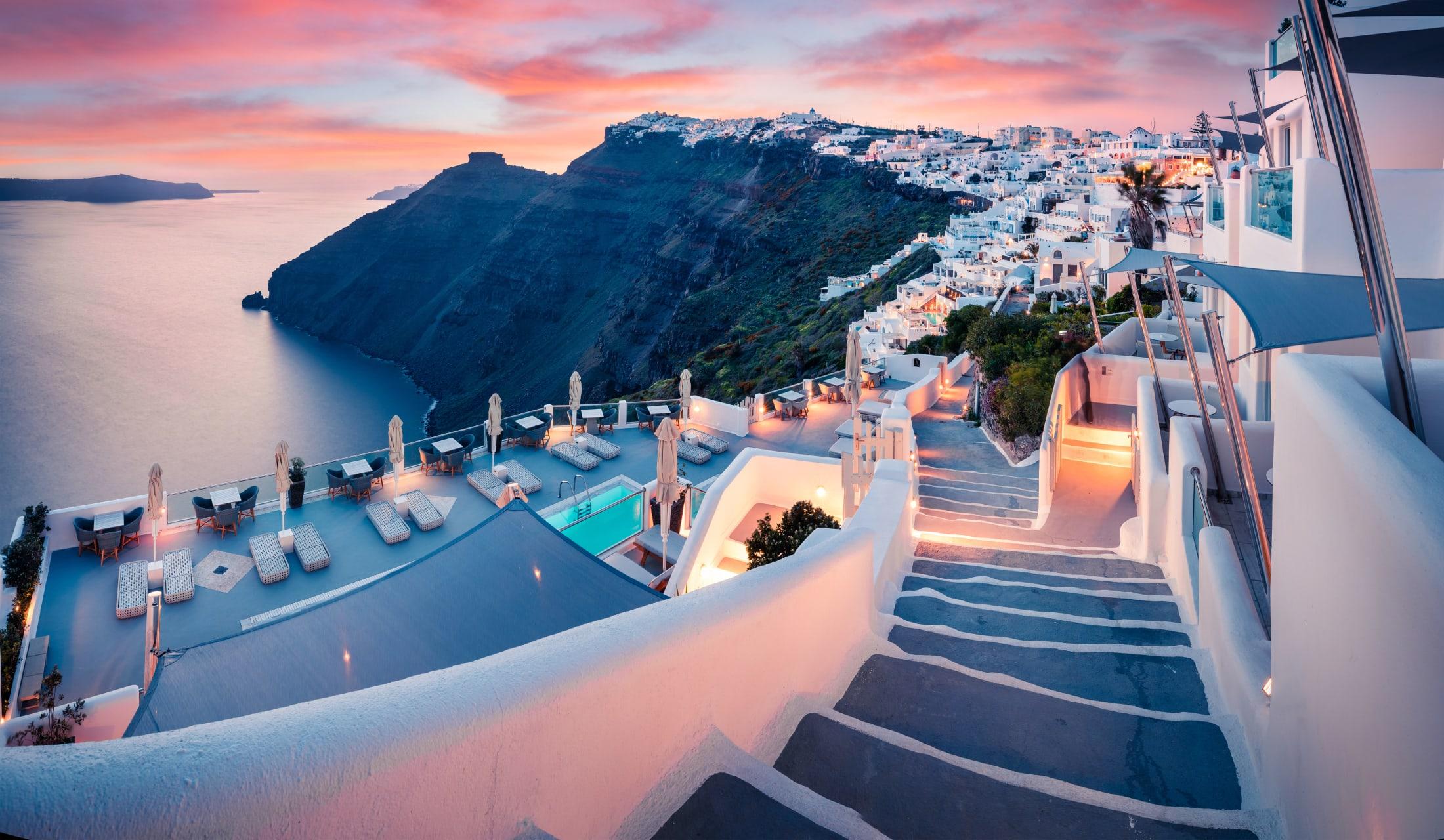 Santorini - Fira Santorini: The Heart and Soul of the Island During Sunset