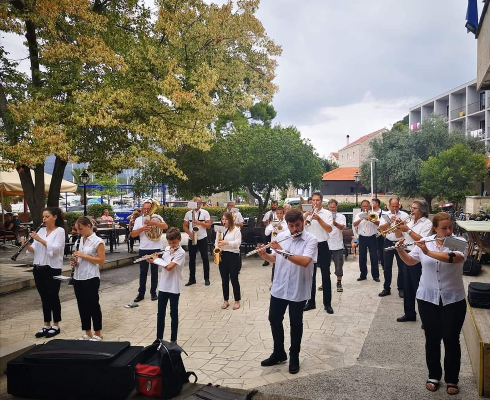 Korcula - Village Brass Band Performing for Statehood Day