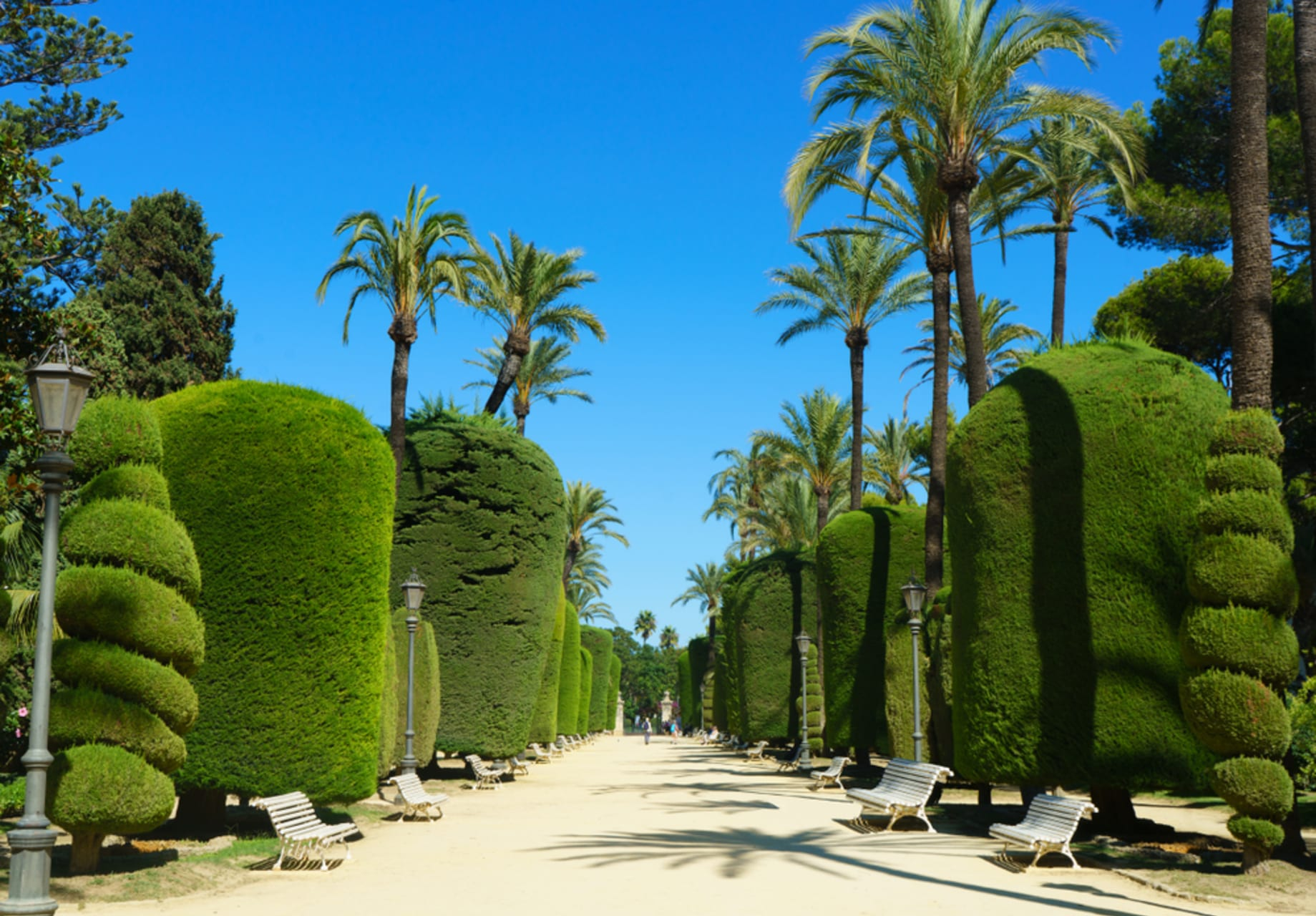 Cádiz - Beautiful gardens with the sea views,  España Square and the importance of the first Constitution in Spain