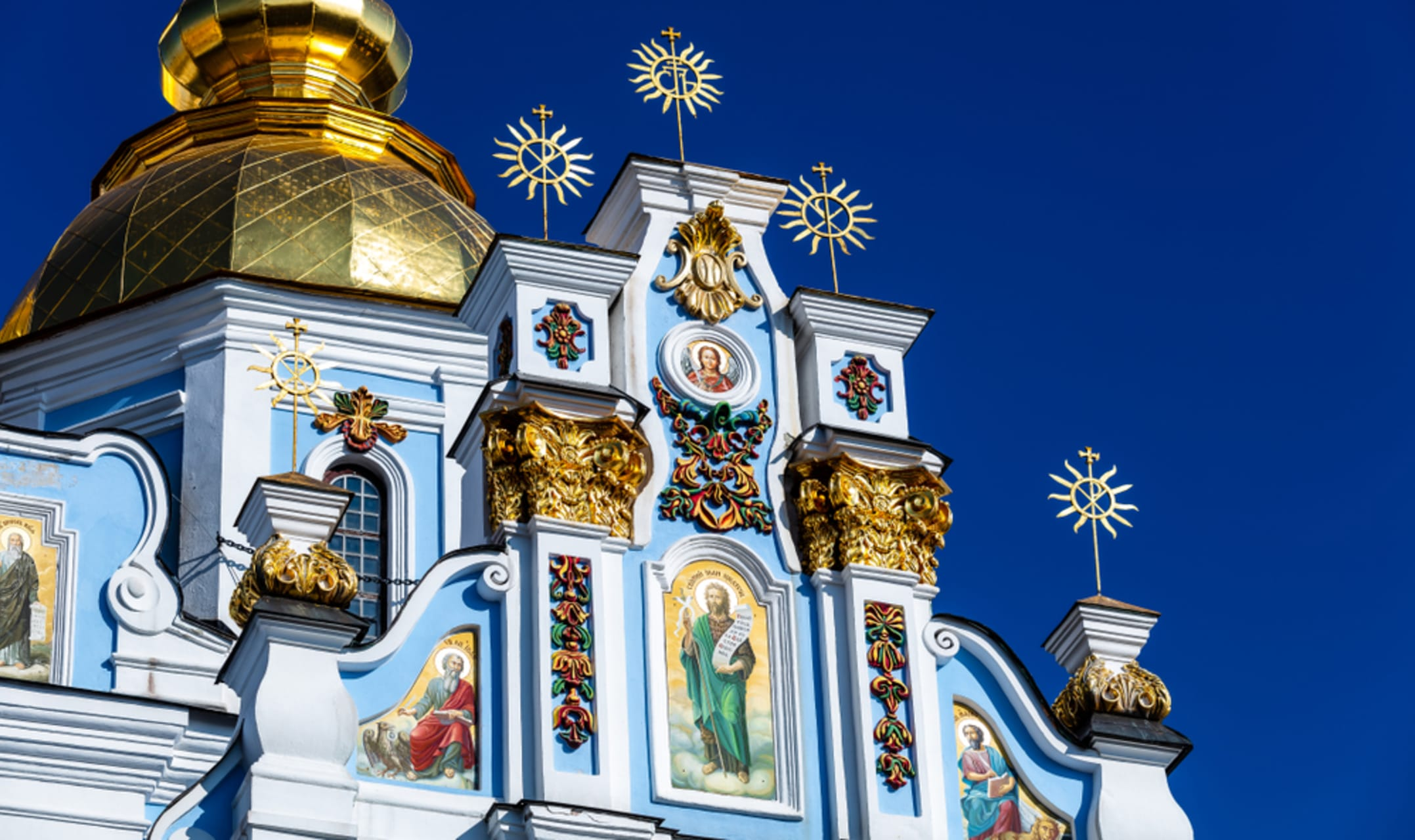 Kyiv - St Michael's Golden Domed Monastery and Funicular Ride