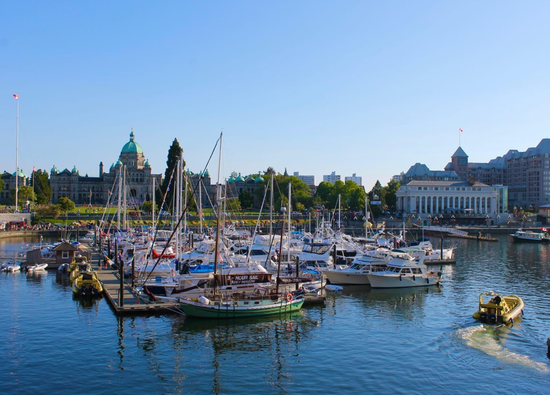 Victoria, BC - Inner Harbour Explore - Capital City of Flowers and Splendour