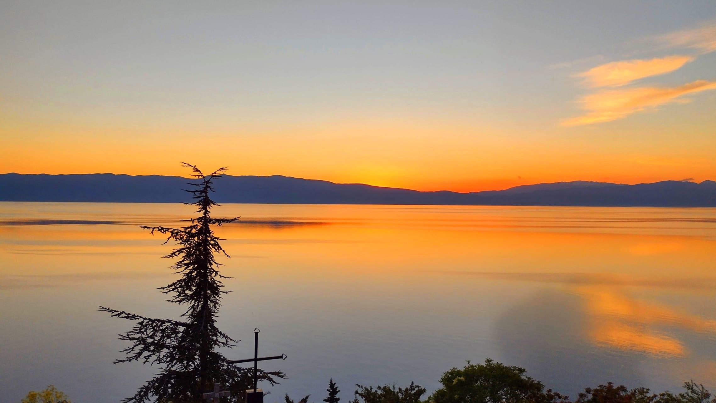 Ohrid - Magical Sunset Over Ohrid Lake