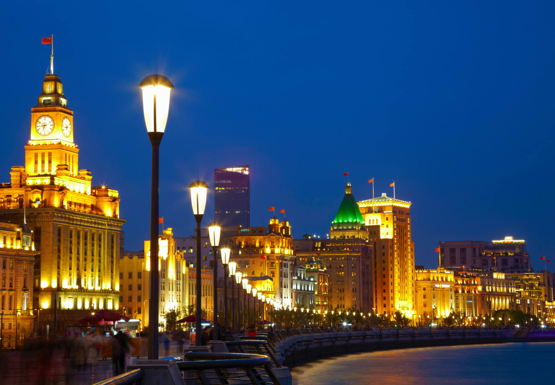 Shanghai - The Bund by Night: A Walk Along Huangpu River Promenade